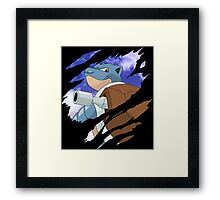 pokemon blastoise anime manga shirt Framed Print