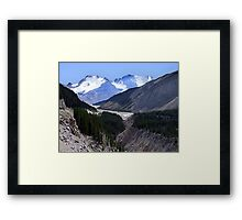 Columbia Icefield and Athabaska River Framed Print