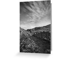 Precipice walk & sky Greeting Card