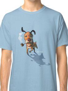 Smoking Dog Classic T-Shirt