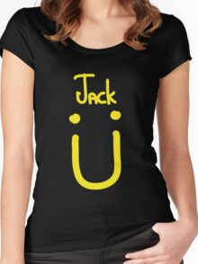 Jack U yellow Women's Fitted Scoop T-Shirt