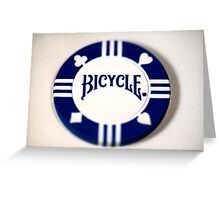 Pick Another Suit - Blue Poker Chip Greeting Card