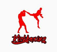 Kickboxing Man Jumping Back Kick Red  T-Shirt