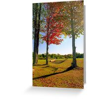 Lazy Autumn Afternoon, New England Greeting Card