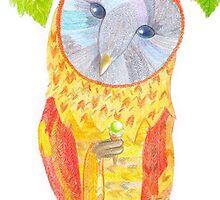Owl Orange by RagAragno