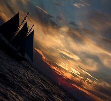Sunset Sailing by sarafahling