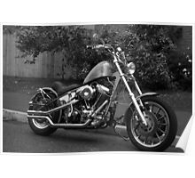 The Red Witch - Custom Chopper Motorcycle Poster