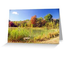 Autumn View, New England Greeting Card