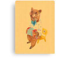 Bear with Charming Harmony Canvas Print