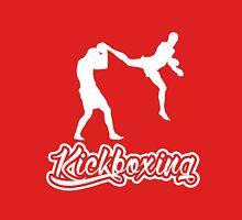 Kickboxing Man Jumping Back Kick White  Unisex T-Shirt