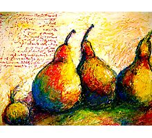 Pear Journal Page 5 Photographic Print