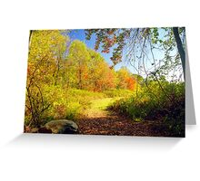 Connecticut Autumn View, New England Greeting Card
