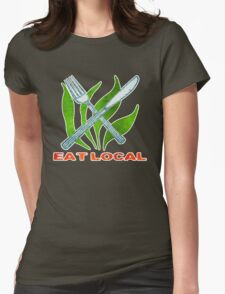 Eat Local Womens Fitted T-Shirt