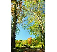 Connecticut Country Autumn Photographic Print