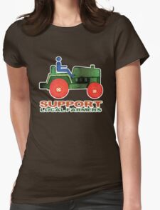 Support Local Farmers Womens Fitted T-Shirt