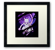 pokemon mewtwo anime manga shirt Framed Print
