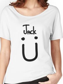 Jack U black Women's Relaxed Fit T-Shirt