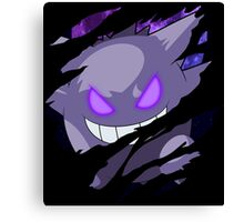 pokemon gengar anime manga shirt Canvas Print