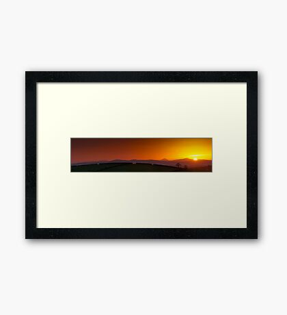 Sunset over Donegal Mountains Framed Print