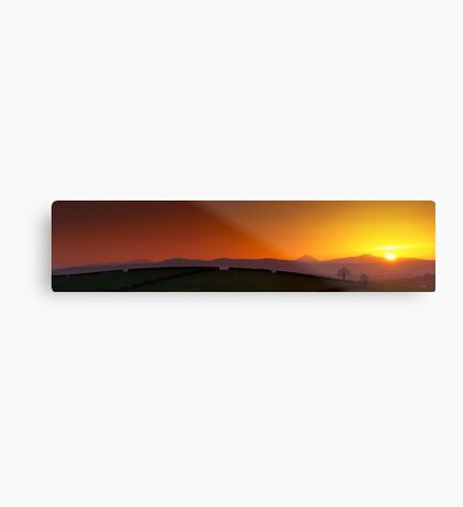 Sunset over Donegal Mountains Metal Print