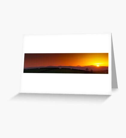 Sunset over Donegal Mountains Greeting Card