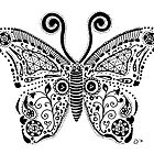 Butterfly Doodle by Jacqueline Eden
