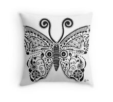 Butterfly Doodle Throw Pillow