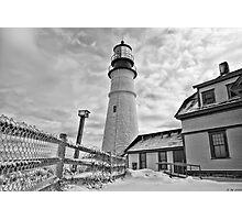 Bird House of Portland Head Light Photographic Print