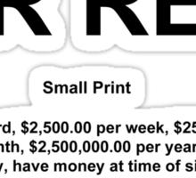 Small Print Sticker