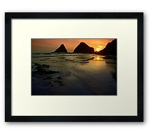 One With The Sea Framed Print