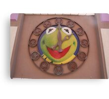 Kermit Clock - Walt Disney World Canvas Print