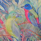 Painted Buntings by Lynda Earley