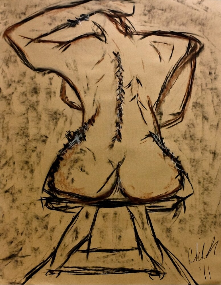 Rear Abstract Nude  by Christina Rodriguez