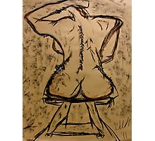 Rear Abstract Nude  Photographic Print