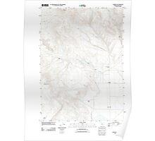 USGS Topo Map Oregon Crowley 20110819 TM Poster