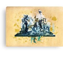 The White Queen-Knight's Pawn Canvas Print