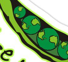Visualize World Peas Sticker