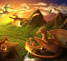 Charizard Valley by OkamiWhitewings