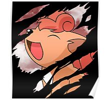 pokemon vulpix anime manga shirt Poster