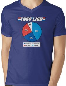 They Lied! Mens V-Neck T-Shirt
