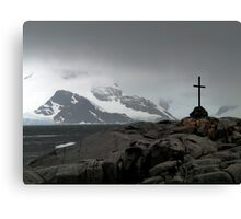 Cross on the White Continent Canvas Print