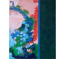 Rita-T, Abstract Painting, Untitled 1, Red, Blue, Pink, Green Photographic Print