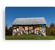 Roadside Gems - the Pleasure Barn Canvas Print