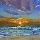 Malibu Beach Sunset by Michael Creese