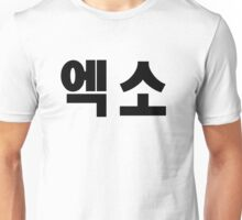 EXO Kpop Hangul Korean Name Black Unisex T-Shirt