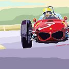 Ferrari 156 Dino 1962 Dutch GP  by Yuriy Shevchuk
