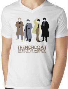 Trenchcoat Detective Agency Mens V-Neck T-Shirt