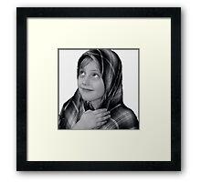 Charlotte and the headscarf Framed Print