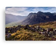 The Langdale Pikes from Side Pike Canvas Print