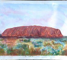 ULURU Ayers Rock,Austrailia. by Thomas Arthur  Holland